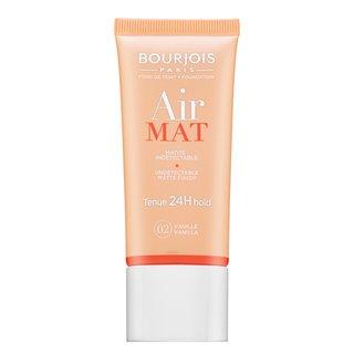 Bourjois Air Mat 24H Undetectable Matte Finish - 02 Vanilla fond de ten lichid pentru efect mat 30 ml