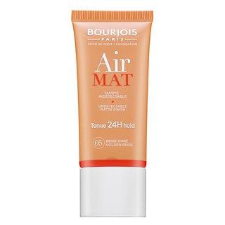 Bourjois Air Mat 24H Undetectable Matte Finish - 05 Golden Beige fond de ten lichid pentru efect mat 30 ml