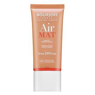 Bourjois Air Mat 24H Undetectable Matte Finish - 06 Golden Sun fond de ten lichid pentru efect mat 30 ml