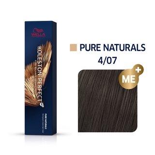 Wella Professionals Koleston Perfect Me+ Pure Naturals vopsea profesională permanentă pentru păr 4/07 60 ml