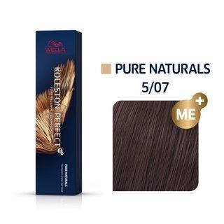 Wella Professionals Koleston Perfect Me+ Pure Naturals vopsea profesională permanentă pentru păr 5/07 60 ml