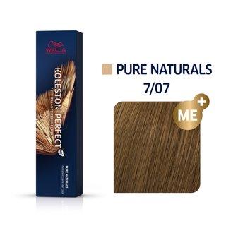 Wella Professionals Koleston Perfect Me+ Pure Naturals vopsea profesională permanentă pentru păr 7/07 60 ml