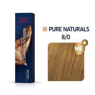 Wella Professionals Koleston Perfect Me+ Pure Naturals vopsea profesională permanentă pentru păr 8/0 60 ml