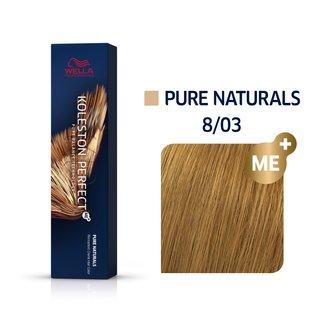 Wella Professionals Koleston Perfect Me+ Pure Naturals vopsea profesională permanentă pentru păr 8/03 60 ml