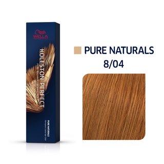 Wella Professionals Koleston Perfect Me+ Pure Naturals vopsea profesională permanentă pentru păr 8/04 60 ml