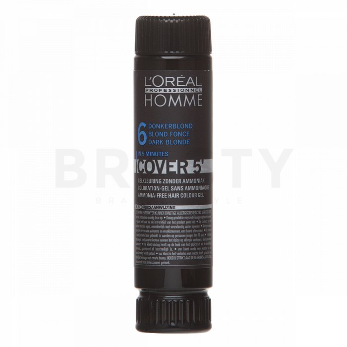 L´Oréal Professionnel Homme Cover 5 No. 6 Dark Blond 3 x 50 ml